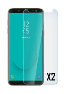 2 façades de protection en verre trempé 9H pour Samsung Galaxy J6 2018