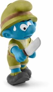 Figurine Les Schtroumpfs dans la jungle : le Schtroumpf aventurier