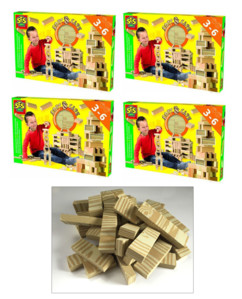 Jeu de construction avec 168 cubes en mousse