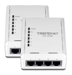 Kit de 2 adaptateurs CPL 500 Mbps Trendnet ''TPL-405E'' - 4 ports