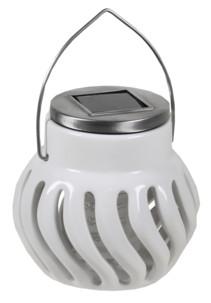 lampe anti insectes moustiques design en céramique avec fonctionnement solaire sans piles