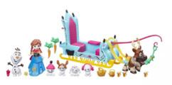 jouet reine des neiges bobsleigh d'anna olaf sven sleigh ride figurines personnages