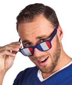 lunettes a grille drapeau de la france pour supporter coupe du monde 2018