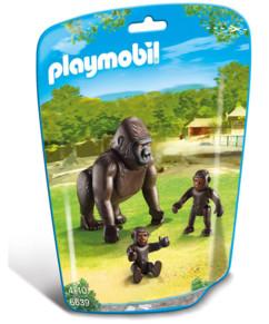 Maman Gorille et ses bébés 6639