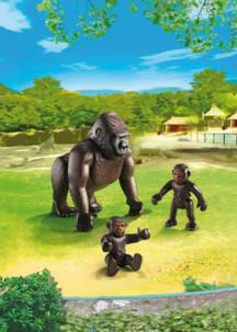 jouet playmobil 6639 famille sing maman gorille avec 2 bébés