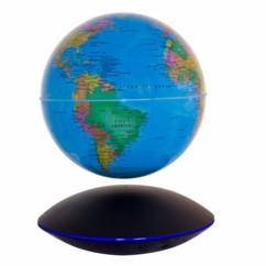Globe lumineux géopolitique flottant à lévitation magnétique