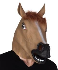 masque de cheval en latex pour deguisement ou vidéo youtube prank