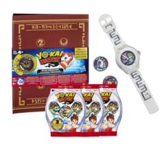 pack montre yokai watch avec classeur medaillum et montre + 11 médailles