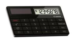 mini calculatrice compacte solaire canon x mark i noir