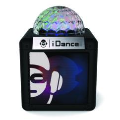 mini enceinte portable avec effet disco idance nano cube cn1 noir 5w