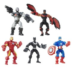 pack de figurines articulées marvel avengers infinity war Super hero marshers war machine falcon iron man black panther captain america