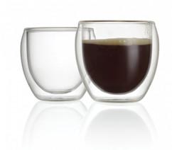 pack de mini tasses a café double paroi transparentes 11cl