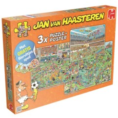 pack de 3 puzzles jan van haasterren 500 750 1000 pieces thème foot jumbo