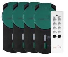 pack de 4 prises télécommandées étanches pour extérieur et jardin casacontrol