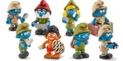 Pack de 8 figurines Les Schtroumpfs dans la jungle