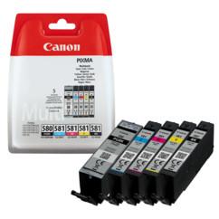 Pack de cartouches originales Canon PGI-580 et CLI-581.