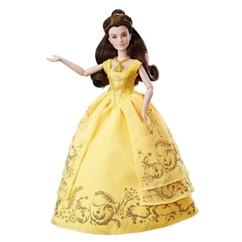 poupée belle et la bete robe de bal jaune brodée emma watson film 2017