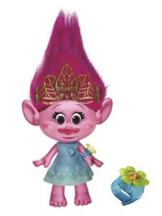 poupée parlante poppy dessin animé trolls tete a coiffer avec bracelet lumineux