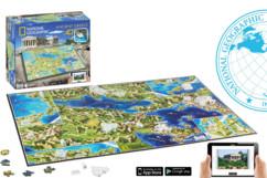 puzzle 4D grece ancienne avec localisation batiments national geographic 4d