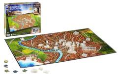 puzzle 4D rome antique ancienne avec localisation batiments national geographic 4d
