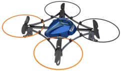 mini drone radiocommandé silverlit space galaxy bleu avec protections helices ideal debutant