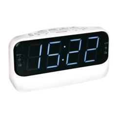 Radio-réveil à grand affichage ClipSonic AR316 - Blanc