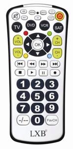 télécommande tv universelle taille géante xxl pour tv lecteur demodulateur lexibook st400