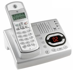 téléphone fixe sans fil avec répondeur lexibook dp450fr gris argent pas cher