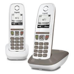 Téléphone fixe sans fil DECT Gigaset AS470 Duo - Taupe