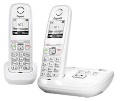 Téléphone fixe sans fil DECT Gigaset AS470A Duo - Avec répondeur - Blanc