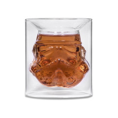verre à double paroi forme casque stormtrooper star wars thumbs up