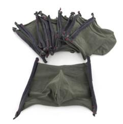 10 masques barrières lavables (sans filtres) - Kaki