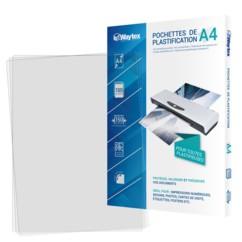 100 pochettes de plastification A4 -75 microns