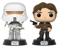 Lot de 2 figurines Pop Star Wars, Han Solo et Range Trooper.