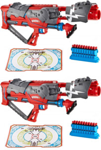 2 fusils BOOMco Rapid Madness Blaster