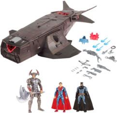 Vaisseau Justice League avec 3 figurines