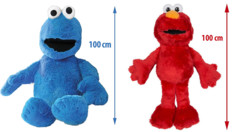 2 peluches XXL Sesame Street