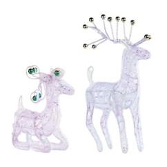 Deux rennes du Père Noël lumineux USB ou piles.
