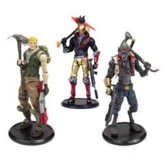 Trois figurines articulées Fortnite de 18 cm, par McFarlane Toys