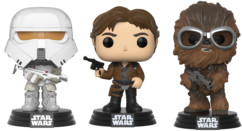 3 Figurines Pop Star Wars