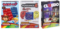 3 jeux Edition Voyage : Cluedo, Puissance 4 et Qui Est-ce ?