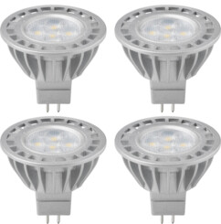 Lot de 4 ampoules LED spot gu5.3 broches 5w 350 lumen Goobay.