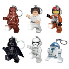 Lot de 6 porte-clés LEGO Star Wars.