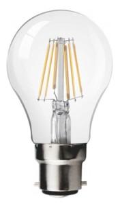 ampoule led 6w style filament retro avec baionnette b22