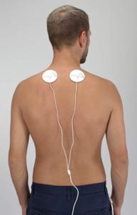 appareil electrostimulation ems à brancher sur smartphone micro usb 2 patchs pour massage muscles nomade Hydas