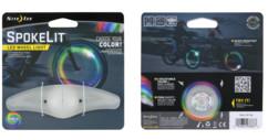 lumière led pour rayons de roue de vélo 6 couleurs etanche antichoc niteize spokelit
