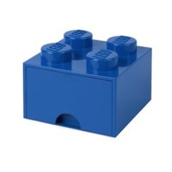 Brique de rangement LEGO bleue.