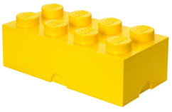 Brique de rangement Lego 8 plots (12 litres) - Jaune