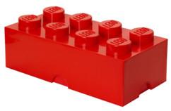 boite de rangement lego grande brique 8 plots 12 litres rouge