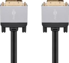 Câble DVI-D mâle-mâle doré compatible 4K - 5 m